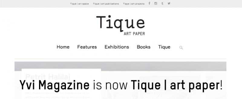 Yvi is now Tique | art paper