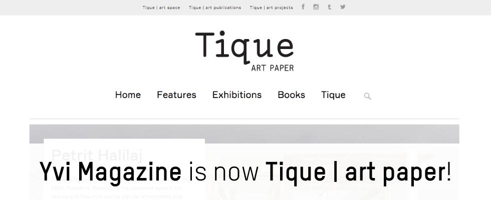 Yvi is now Tique   art paper